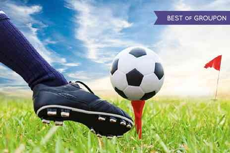 Abbey Hill Golf Centre - Footgolf Plus Burger and Chips For Two  - Save 58%