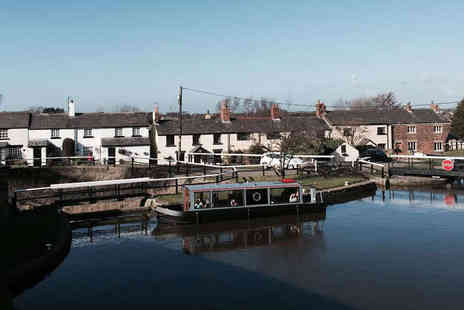 Lancashire Canal Boat Cruises - Canal Cruise with Afternoon Tea Including Glass of Bubbly for Two  - Save 59%