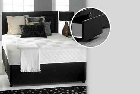 Fishoom - Divan bed and memory sprung mattress, or 2 accompanying storage drawers  - Save 79%