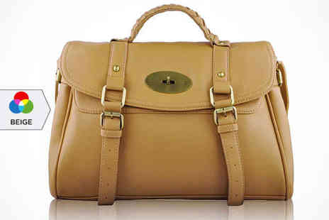 Buckle Satchel - Buckle Satchel in a Choice of Colour, Delivery Included - Save 0%