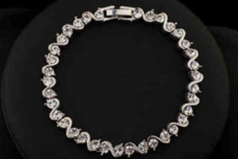 Cartres - Platinum-plated bracelet - Save 0%