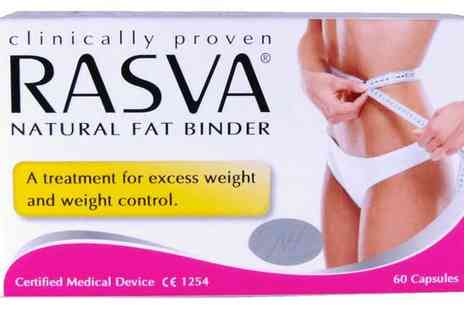 Loco Gadgets - 60 Rasva Natural Fat Binder Capsules - Save 72%