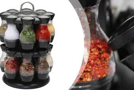 Qfonic Technology Distribution Network  - Spinning Carousel Spice Herb Rack - Save 52%