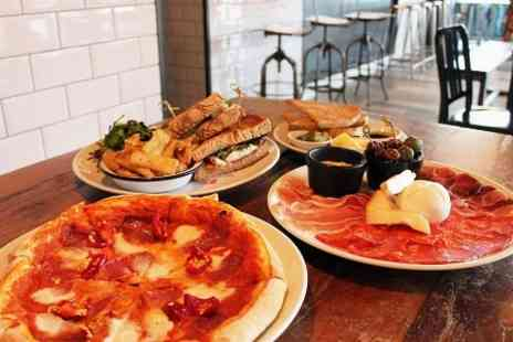 LAB Bar and Eatery - Two Course Pizza Meal For Two  - Save 60%