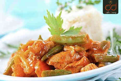Delhi Dining - Starter and Main Course with Rice or Naan for Two  - Save 59%
