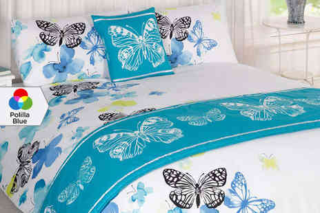 Duvet Cover - Butterfly Bedding Set in a Choice of Colour Delivery Included - Save 67%