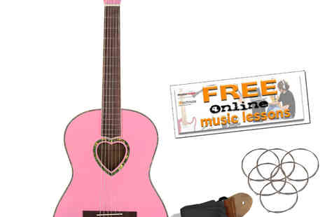 Technote Int - Candy Rox Pink Heart  Acoustic Guitar - Save 42%