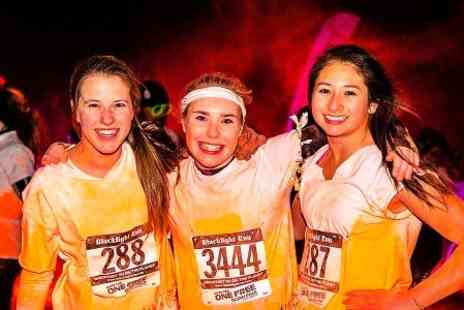 Just Racing  - Blacklight 5K Night Run Entry With Race Pack and Party Dreads - Save 0%