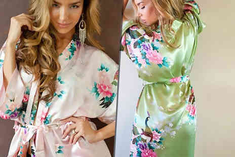 Beaches Crazy - Silky kimono robe - Save 78%