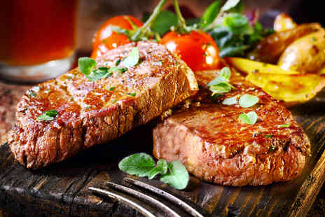 The Top Pub - Two course steak dinner for 2 including a carafe of red, white or rose wine to share  - Save 50%