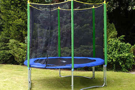 Games & Fitness  - 8ft Trampoline with Safety Net Enclosure, Free Delivery - Save 65%
