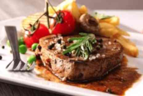 Brasserie 19 - Steak dinner for Two & a carafe of wine   - Save 0%