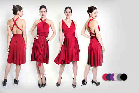 Kiana Fashions - Versatile midi dress in a choice of six colors Plus Delivery Included  - Save 67%