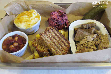 John Henrys  - Tin Platter with Beer or Soft Drink Each for Two  - Save 46%