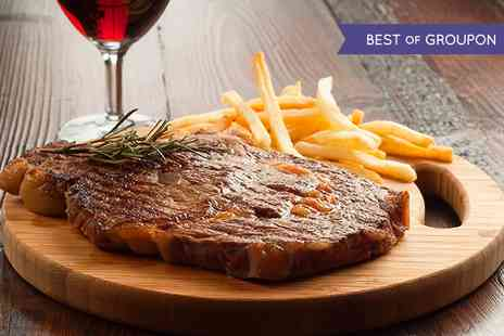 Elysium - Steak Meal With Sides and Wine For Two - Save 51%