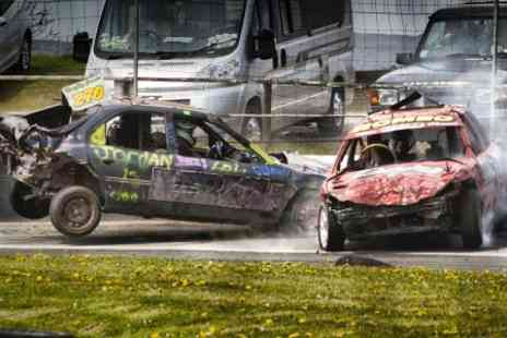 Buxton Raceway - Entry to Banger and Stock Car Racing  For Two - Save 54%