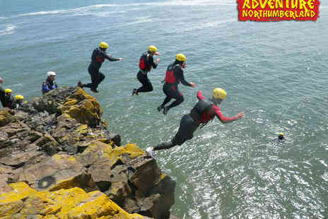 Adventure Northumberland - Kayaking or Coasteering Experience for One - Save 50%