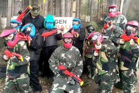 Nextgen Paintball Centre - Paintball With Refreshments and 100 Balls Each  - Save 58%