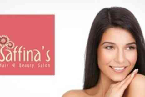 Saffina's Hair and Beauty Salon - Full Head Colour With Haircut, Blow Dry, and Reconditioning Treatment - Save 74%