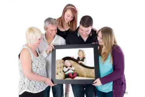 Rob Paul Studios - Family Photoshoot With Large Board Mounted Print - Save 94%