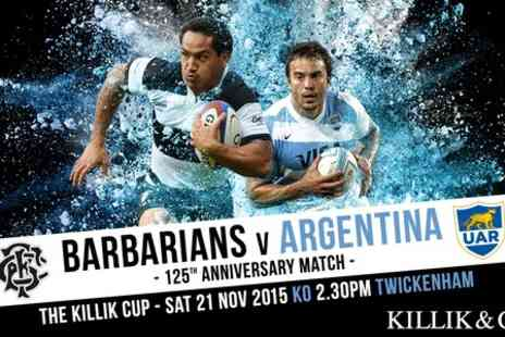 Barbarians - Adult Ticket to Barbarians v Argentina 125th Anniversary  - Save 20%