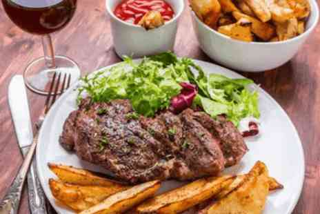The Old Steps - Rib eye steak & a glass of wine each for two  - Save 0%
