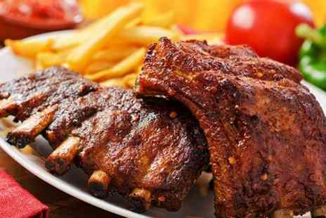 Macs American Diner - All You Can Eat Ribs, Wings and Fries or Burger Meal For Two  - Save 62%