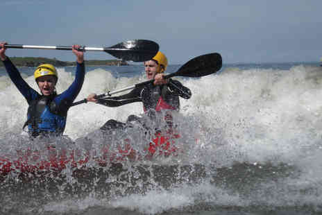 Adventure Northumberland - Three hour coasteering or kayaking experience for one - Save 53%