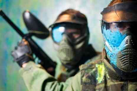 Unreal Paintball - Full Day Paintball Access With 200 Balls Each For Five - Save 92%