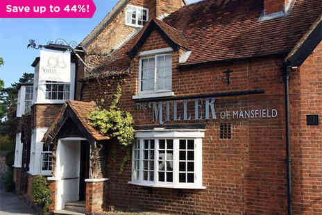 The Miller of Mansfield - An Award Winning Restaurant with Refined Accommodation - Save 44%