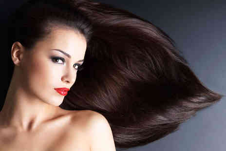 Indulge Tanning & Beauty - Haircut, Blow Dry, and Moroccan Oil Treatment - Save 57%