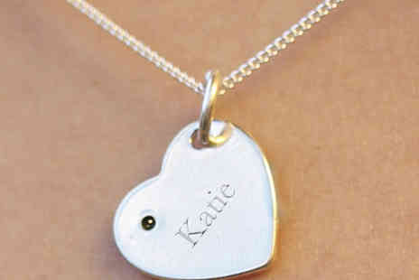 Freemind Media - Personalised 925 Sterling Silver Heart Pendant Necklace - Save 87%