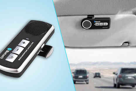 Zip Gadgets - In Car Bluetooth Sun Visor Speakerphone - Save 75%