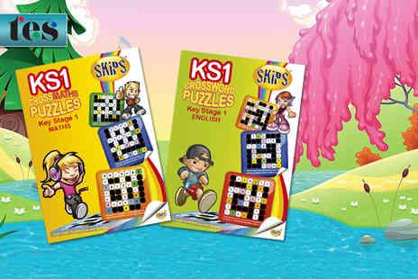 Skips Educational - KS1 Year 7 Crossword and Maths Puzzle book  - Save 56%
