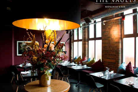 The Vaults Restaurant - Two Course Meal and a Cocktail Each for Two  - Save 51%