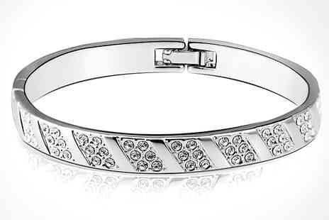 Christian Lewis - Swarovski Elements Bangle - Save 72%