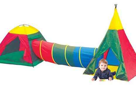 All Boxed Up - Adventure Play Tents and Tunnel Set - Save 50%