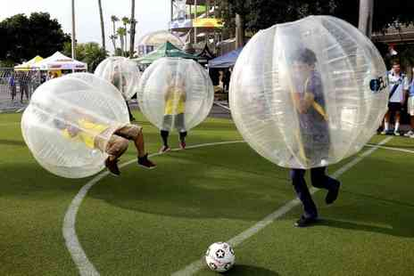Progressive Sports - 90 minute Zorb bubble football session for up to 20 players  - Save 0%