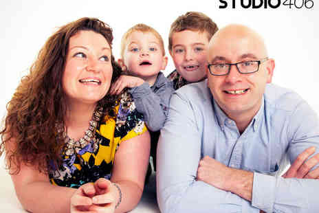 Studio 406 Portraits - Family Photo Shoot for up to 15  with Five 7x5 Inch Prints and a Digital Image on CD - Save 84%