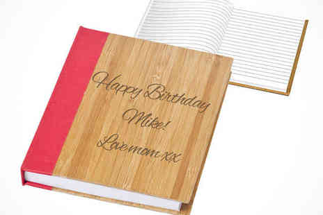 Printmy photo - Personalised Bamboo Covered Notebook - Save 61%