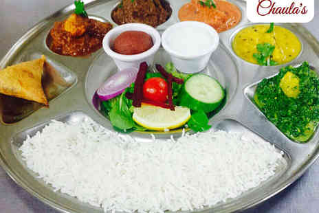 Chaulas - Indian Thali Lunch for Two  - Save 56%