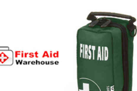 First Aid Warehouse - First aid kit including digital thermometer, plasters and burn gel - Save 70%