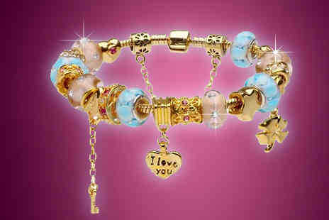Pearls Eve - Murano Glass and Crystal Charm Bracelet - Save 88%
