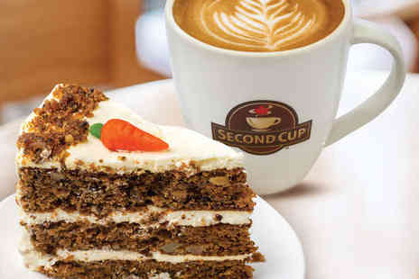 Second Cup - Coffee and Cake for Two - Save 56%