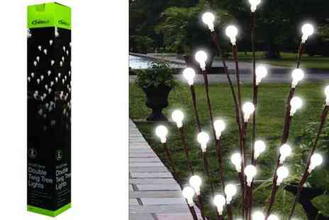 All Boxed Up - 20 LED Solar Double Twig Lights - Save 57%