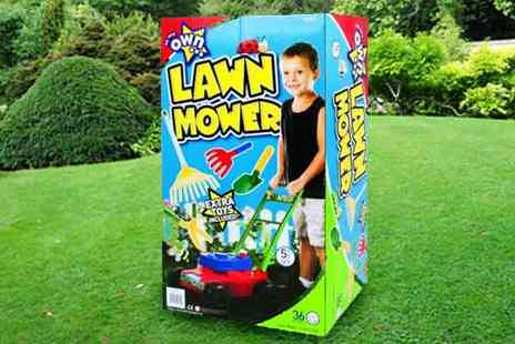 All Boxed Up - Five Piece Lawnmower Play Set - Save 53%