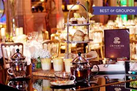 Criterion Restaurant - Champagne Afternoon Tea For One - Save 0%