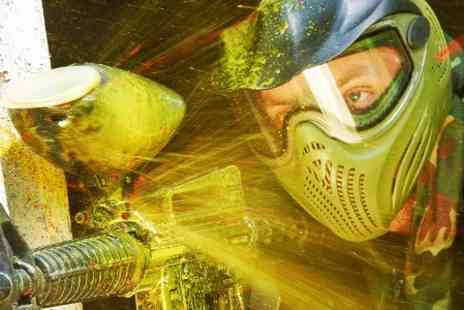 Skirmish Paintball & Laser Games -  Entry to 100 Paintballs and Portion of Chips - Save 0%
