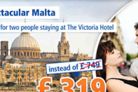 The Victoria Hotel - Discover Malta and its facinating history for 6 days for 2 people - Save 57%