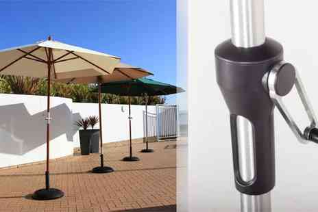 Cozy Bay - Weatherproof Garden Parasols with Optional Stand - Save 36%